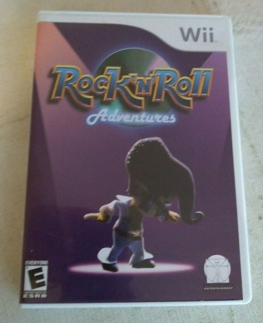 Rock 'N' Roll Adventures (Nintendo Wii, 2007) With Manual CIB Elvis