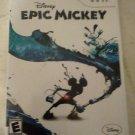 Disney Epic Mickey (Nintendo Wii, 2010) With Manual CIB