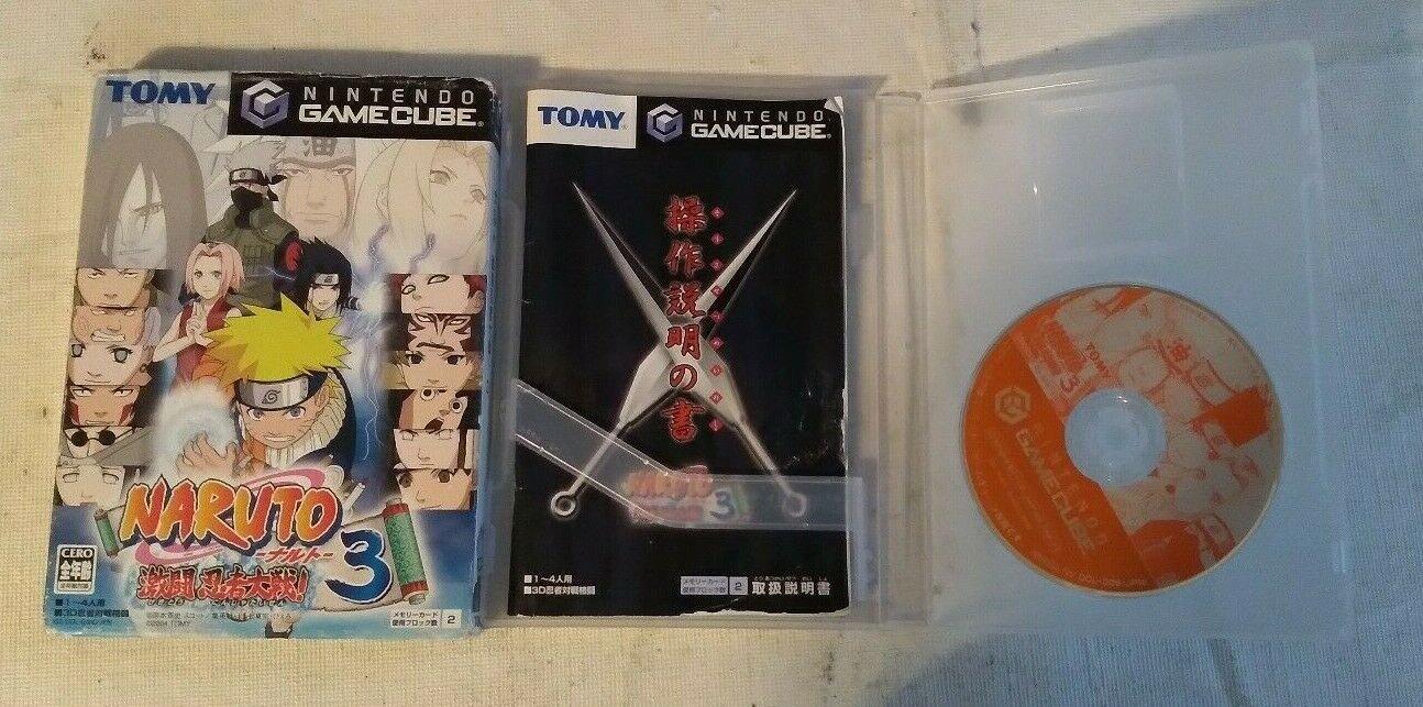 Naruto: Gekitou Ninja Taisen 3 ( GameCube ) W/Box, Case, & Manual Japan Import