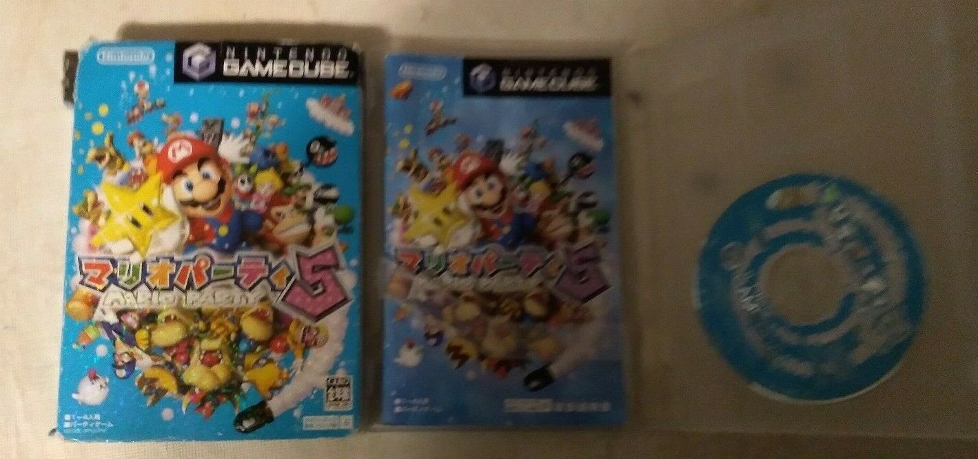 Mario Party 5 (GameCube, 2003) W/Box Case, & Manual Japan Import READ READ READ