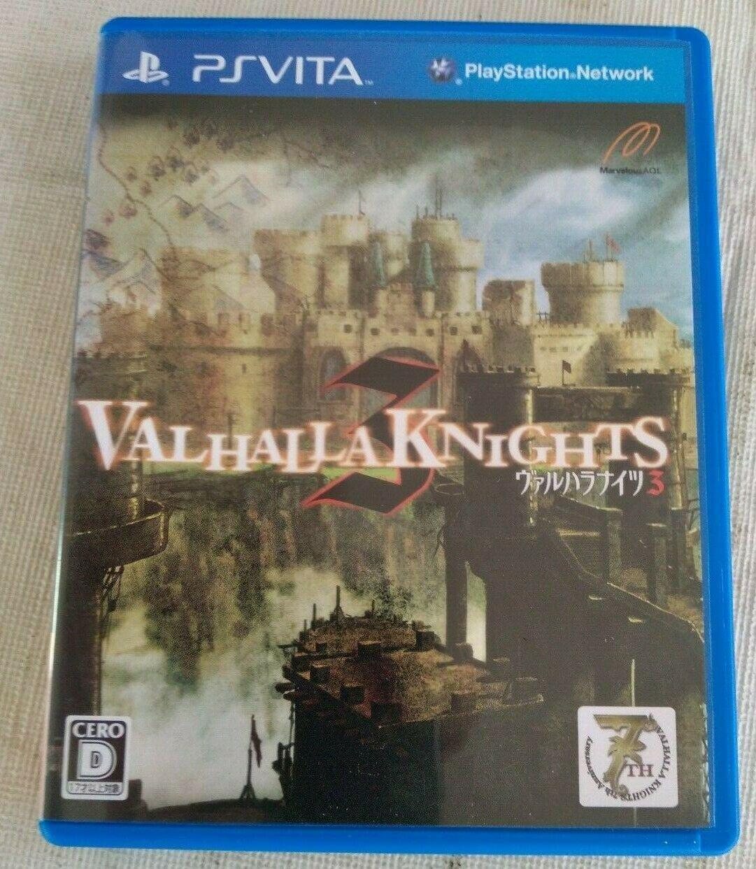 Valhalla Knights 3 (Sony PlayStation Vita, 2013) Japan Import PS Vita