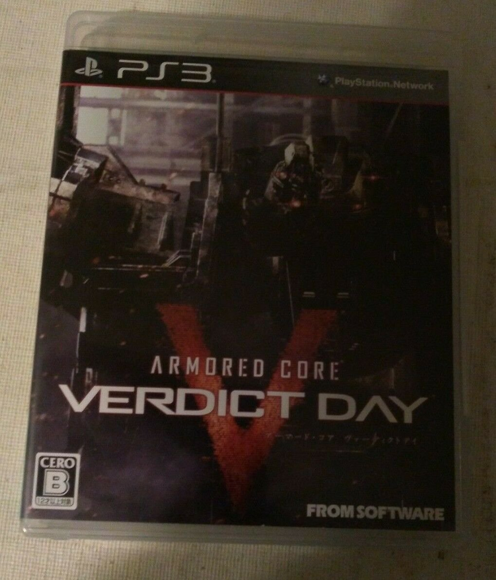 Armored Core Verdict Day (Sony PlayStation 3, 2013) Japan Import PS3 Tested