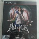 Alice: Madness Returns (Sony PlayStation 3, 2011) PS3 Japan Import USA Seller