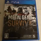 Metal Gear Survive (Sony PlayStation 4, 2018) Japan Import PS4 Tested