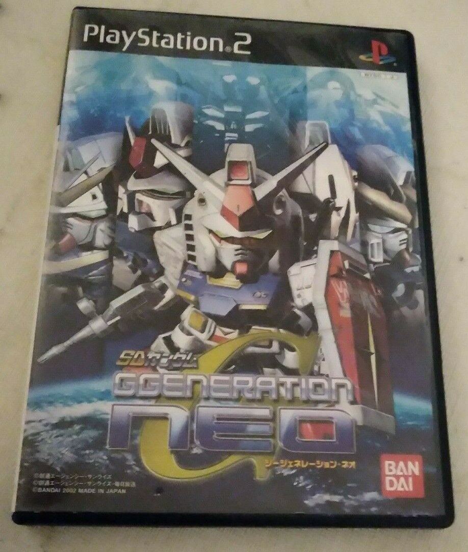 SD Gundam G Generation NEO (Sony PlayStation 2, 2002) Japan Import PS2 US Seller