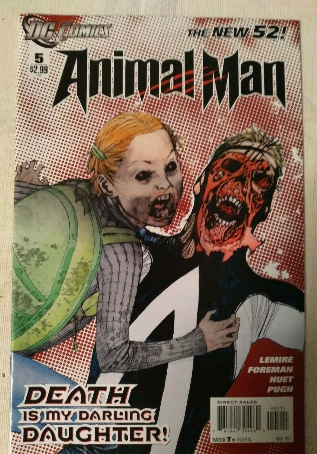 Animal Man #5 VF/NM Jeff Lemire DC Comics The New 52