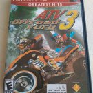 ATV Offroad Fury 3 Greatest Hits (Sony PlayStation 2, 2004) W/Manual Tested PS2