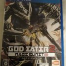 God Eater 2 Rage Burst (Sony PlayStation Vita, 2015) Japan Import PS Vita