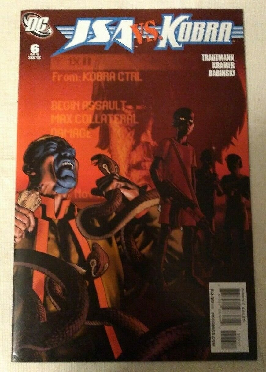 JSA Vs Kobra #6 VF/NM DC Comics