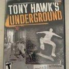 Tony Hawk's Underground (PlayStation 2, September 21, 2003) With Manual PS2