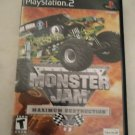 Monster Jam: Maximum Destruction (Sony PlayStation 2, 2002) With Manual PS2