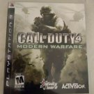 Call of Duty 4: Modern Warfare (Sony PlayStation 3, 2007) With Manual PS3