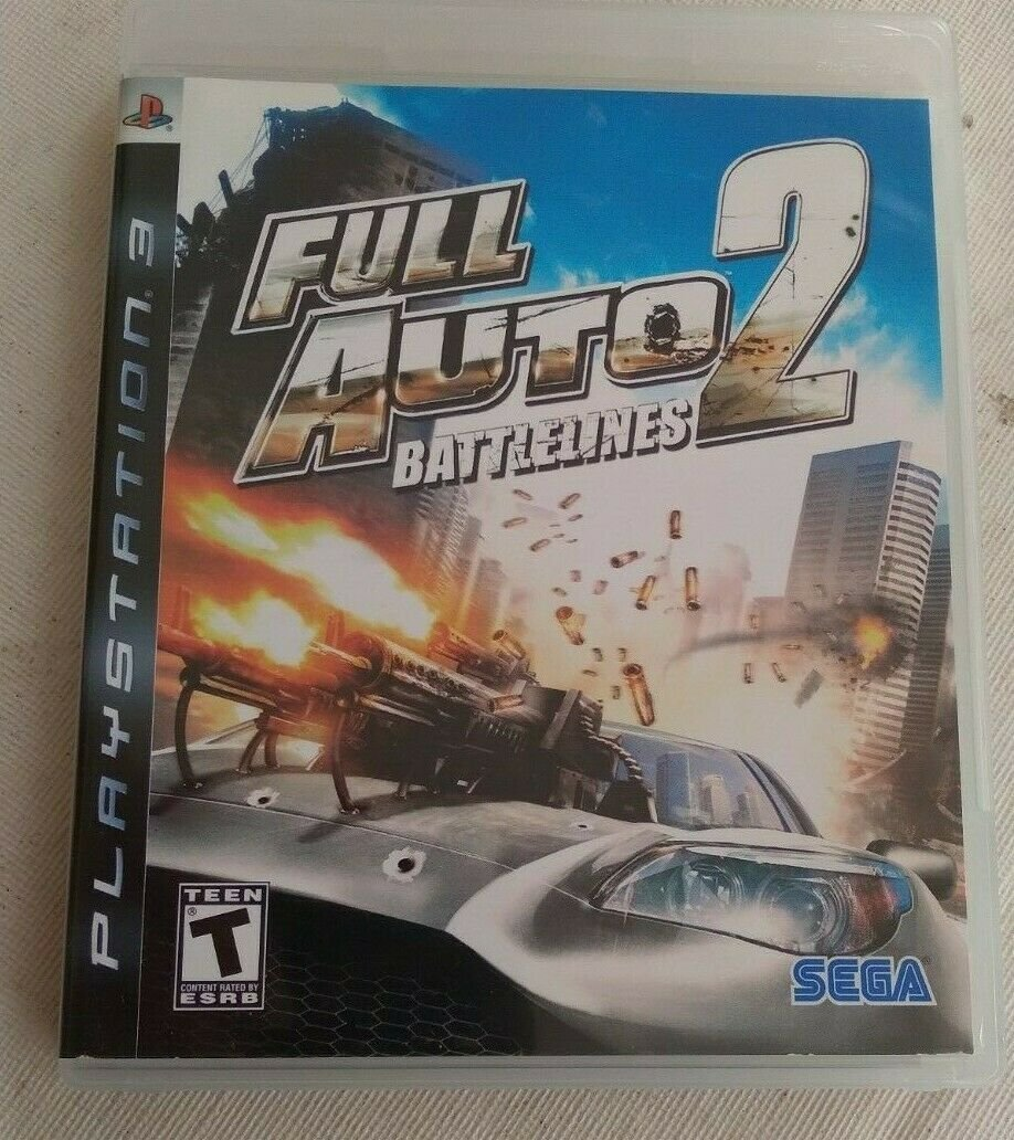 Full Auto 2: Battlelines (Sony PlayStation 3, 2006) With Manual PS3