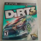 DiRT 3 (Sony PlayStation 3, 2011) With Manual PS3