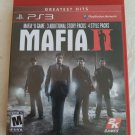 Mafia II -- Greatest Hits (Sony PlayStation 3, 2011) With Manual PS3