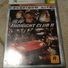 Midnight Club II Platinum Huts (Microsoft Xbox Original, 2003) With Manual