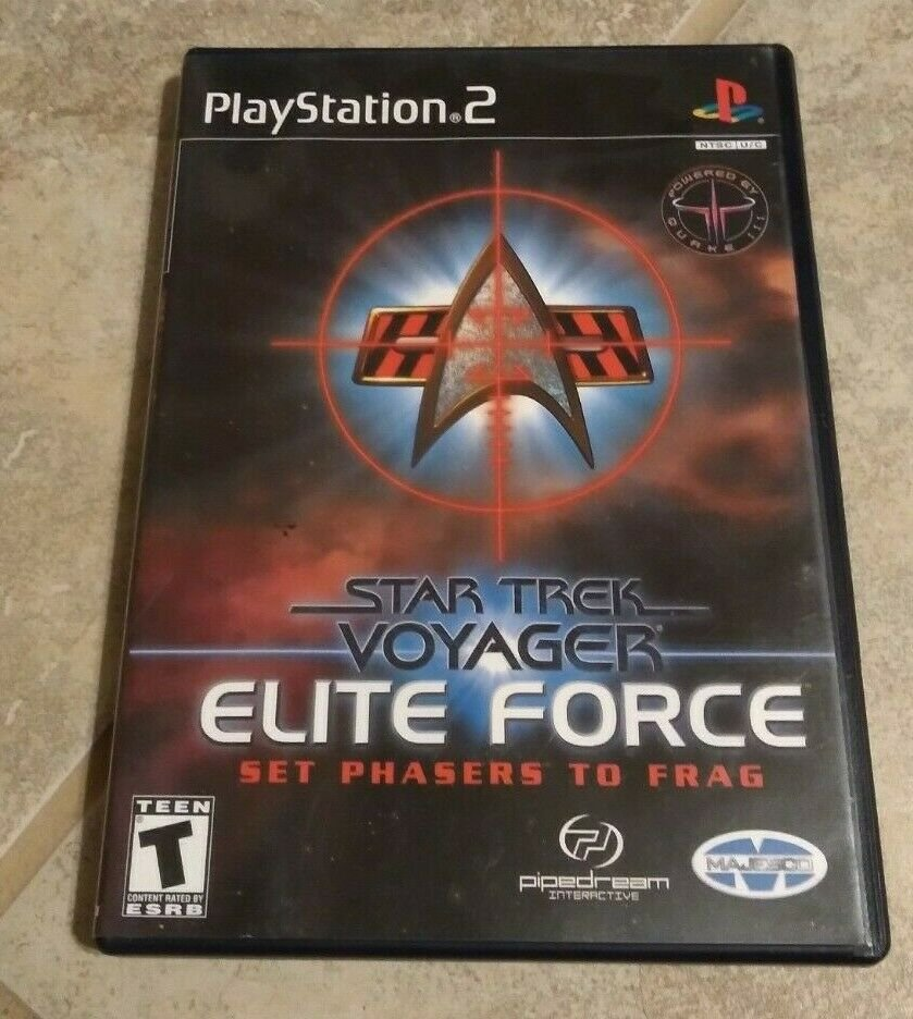 Star Trek: Voyager Elite Force (Sony PlayStation 2, 2001) With Manual PS2 Tested