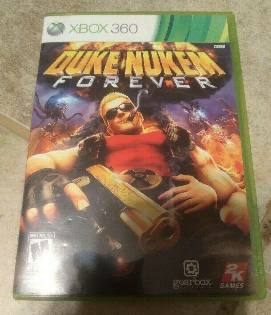 Duke Nukem Forever (Microsoft Xbox 360, 2011) With Manual Tested