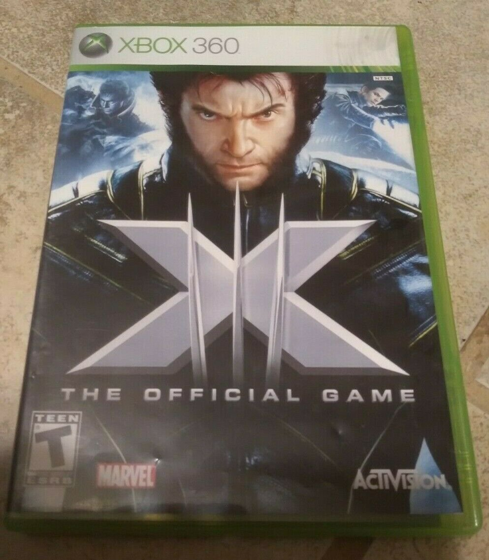 X-Men: The Official Game (Microsoft Xbox 360, 2006) With Manual Tested
