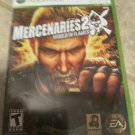 Mercenaries 2: World in Flames (Microsoft Xbox 360, 2008) With Manual Tested