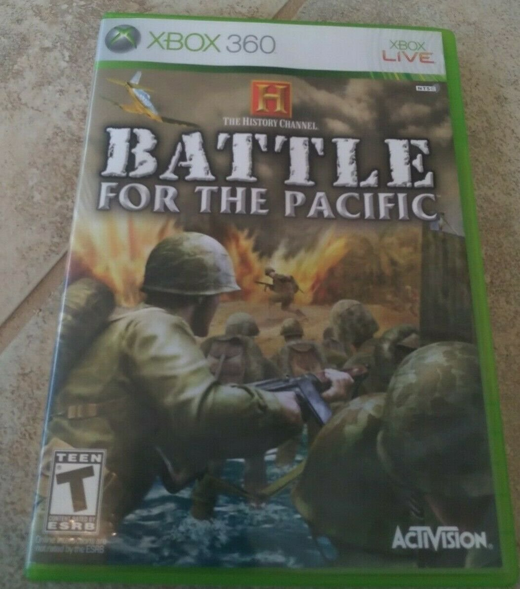 History Channel: Battle for the Pacific (Microsoft Xbox 360) With Manual Tested