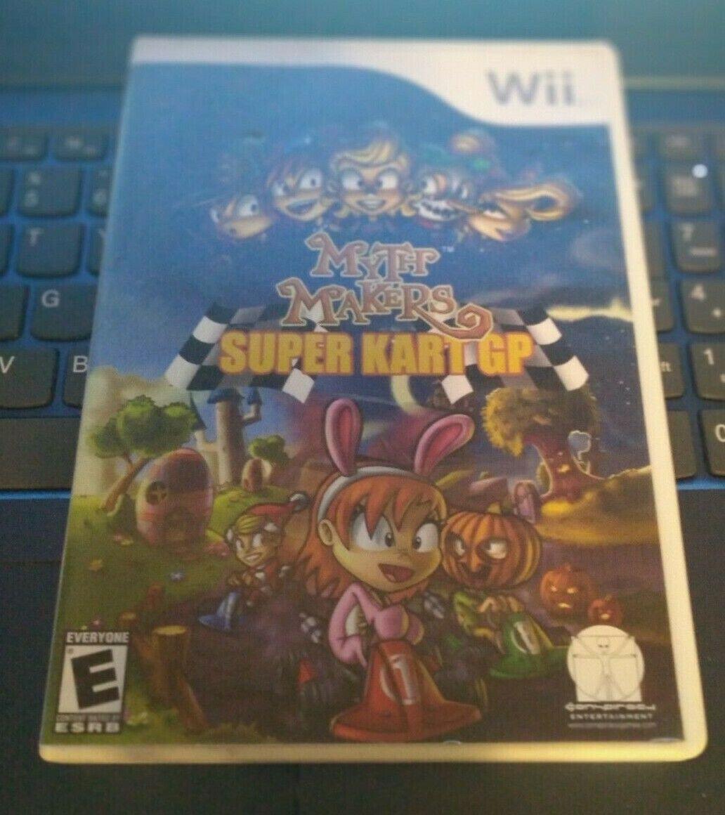 Myth Makers: Super Kart GP (Nintendo Wii, 2007) With Manual