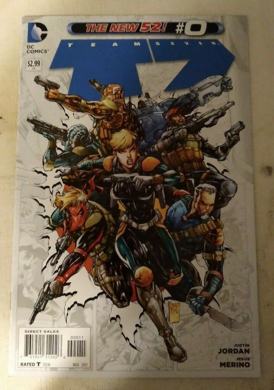 Team 7 #0 VF/NM DC Comics The New 52 Deathstroke Black Canary Amanda Waller