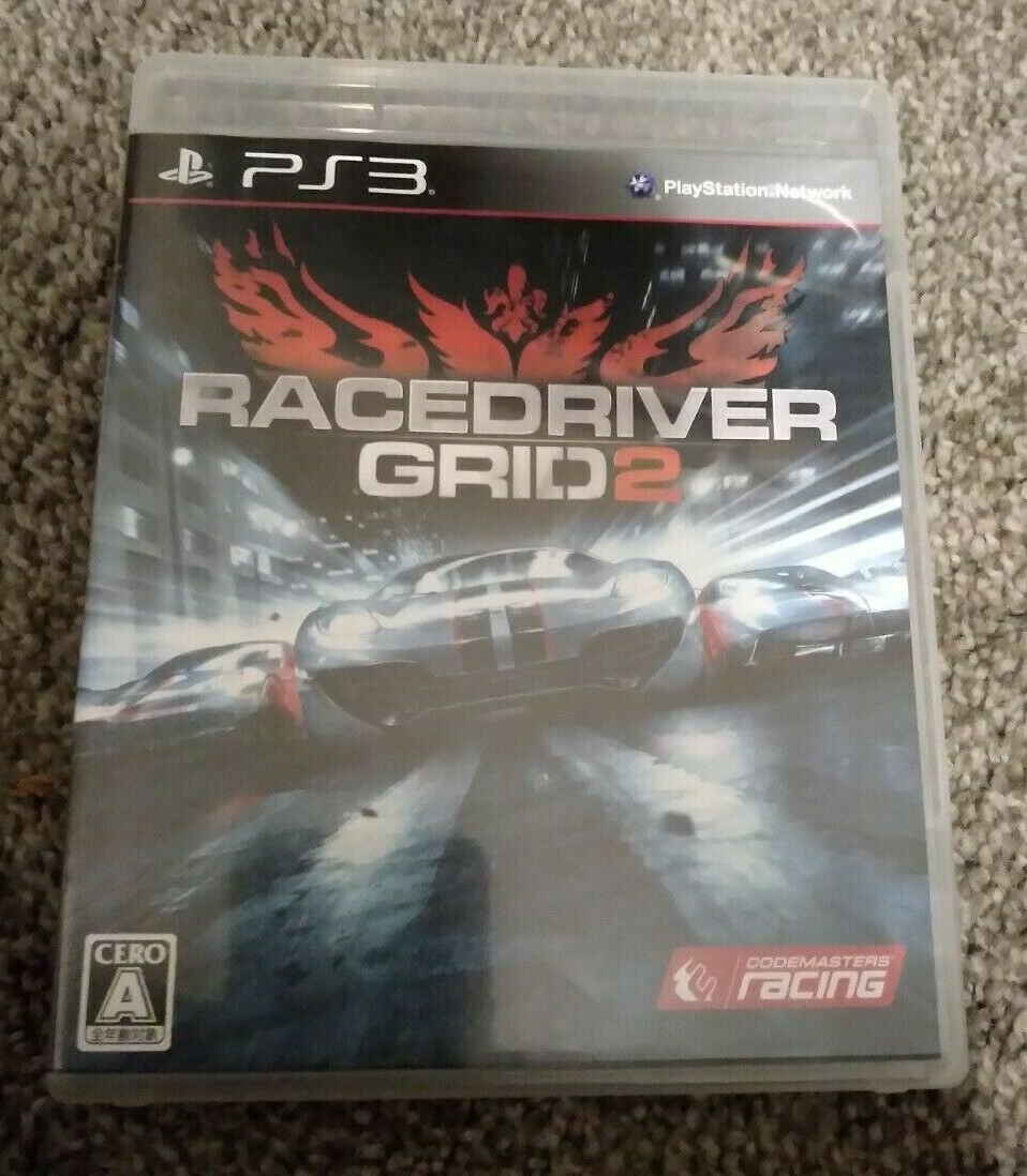 Race Driver: GRID 2 (Sony PlayStation 3, 2013) With Manual Japan Import PS3