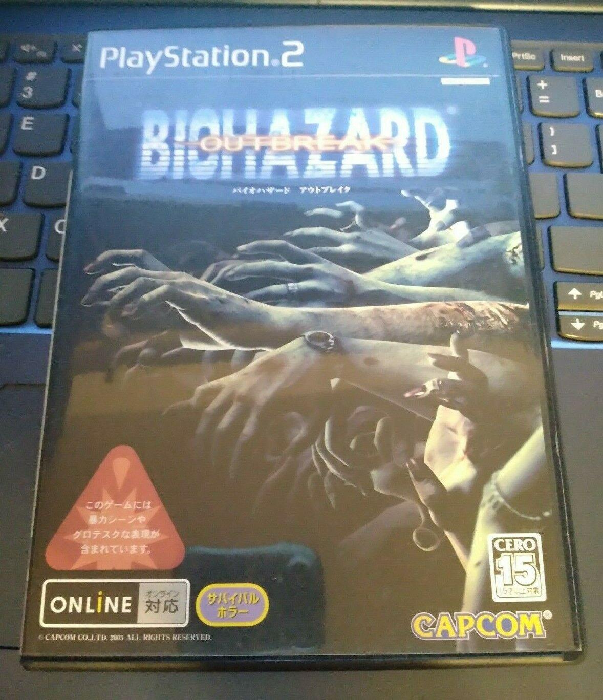 Biohazard Outbreak (Sony PlayStation 2 2003) JAPAN IMPORT READ PS2 Resident Evil