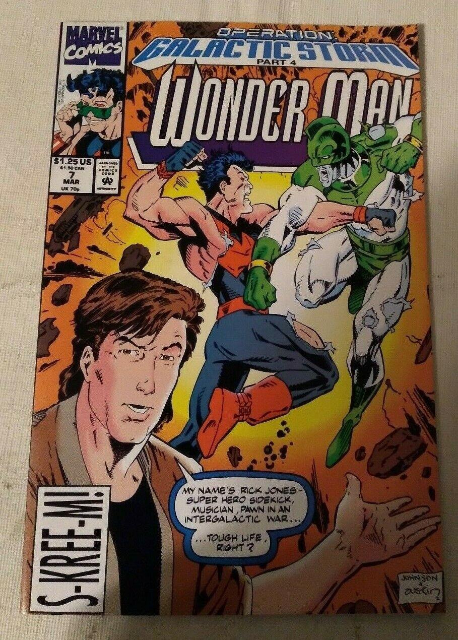 Wonder Man #7 VF/NM Operation Galactic Storm Marvel Comics