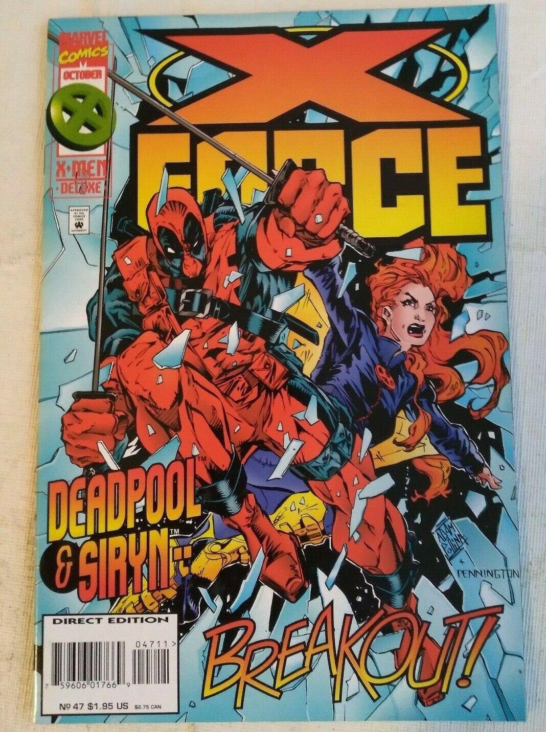 X-force #47 VF/NM Deadpool Marvel Comics Cable Xforce X-men Xmen