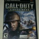 Call of Duty: Finest Hour (Sony PlayStation 2, 2004) Compete With Manual CIB PS2