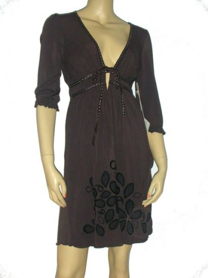 $329 Anthropologie Soul Revival Sexy Brown Dress S Small