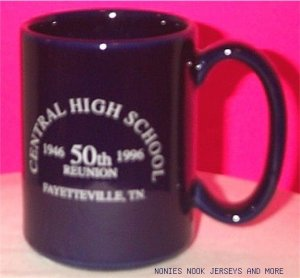 Class of 1946 - 50th Reunion MUG blue coffee cup Central High School TN Fayetteville Tennessee