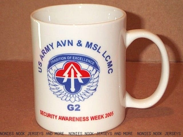 US ARMY AViatioN & MisSLe LCMC G2 coffee MUG tea