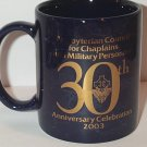 Presbyterian Church Council Chaplains Military Personnel 30th Anniversary MUG blue marble gold foil