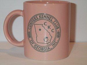 Conyers Kennel Club of Georgia COFFEE MUG peach colored ceramic CKCG
