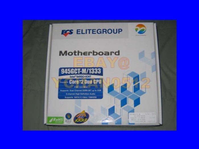 Brand NEW ECS 945GCT-M/1333 Motherboard - Core 2 Duo - Pentium Dual Core LGA 775 Intel onboard video