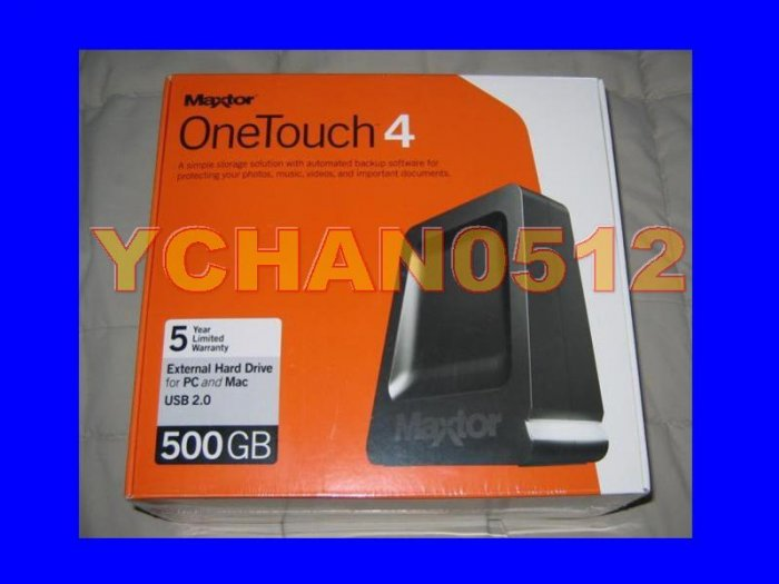 NEW Maxtor 500GB OneTouch 4 External Hard Drive Seagate 500 GB