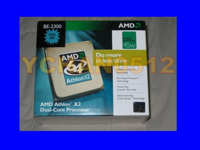 NEW AMD Athlon 64 X2 BE-2300 BOX CPU 1.9GHz Processor 1MB (2x512KB) Socket AM2