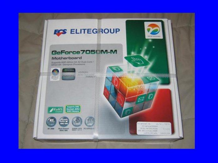 New ECS GEFORCE7050M-M Motherboard SOCKET AM2 AMD Athlon 64 x2 Dual Core Sempron