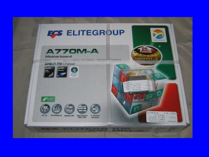 NEW OEM Phenom 9750 X4 2.4Ghz CPU Processor + ECS A770M-A Motherboard SOCKET AM2+ AMD QUAD CORE