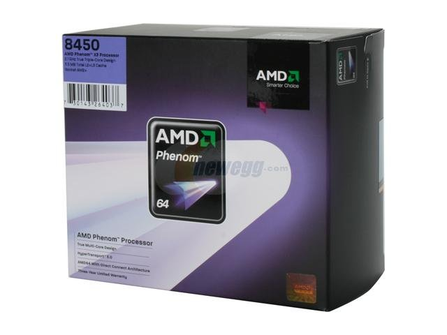 NEW AMD Phenom 8450 X3 2.1Ghz CPU Processor SOCKET AM2 Triple Core
