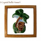 Hawaiian Tiki/Palm Tree Ceramic/Tile/Wood Bar/Room Sign