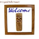 Hawaiian Tiki Ceramic/Tile/Wood Bar/Room Welcome Sign