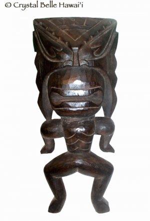 "Hawaiian God Lucky Carved Wood Tiki Wall Hanging 16"""