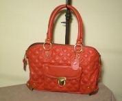 Designer Inspired Quilted Red Stam Handbag