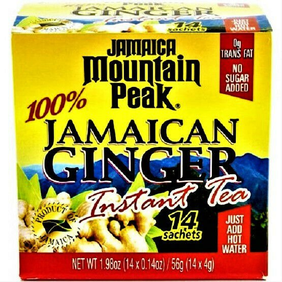 Mountain Peak Jamaica Ginger Instant Tea (14 Bags x BoX) 2 Boxes