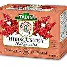 Tadin Hibiscus Herbal Tea Te de Jamaica Caffeine Free (24 Tea Bags Box) 2 Boxes