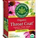 `Traditional Medicinals Throat Coat Tea Lemon Echinacea Immune Function 16 Bags Box 2 Boxes